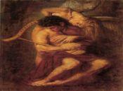 Еротична картинка с арфа