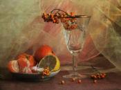 Чаша с воал плодове!