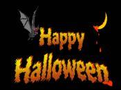 halloween  картичка с анимиран прилеп