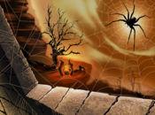 Картичка  зловеща паяжина!
