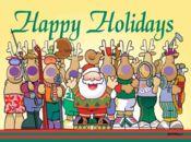 Забавна Коледна Картичка-щастливи празници!