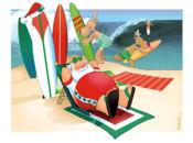Забавна Коледна Картичка-сърф на Коледа!