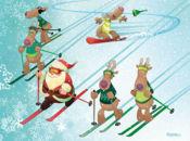 Забавна Коледна Картичка-на ски писта!