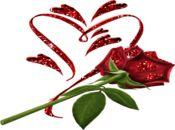 Сърце и роза -Анимирана!