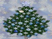 Коледна анимирана картичка-светеща елха!
