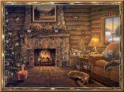Коледна анимирана картичка-домашен уют!