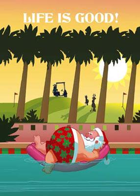 Забавна Коледна Картичка-живота е чудесен!