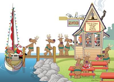 Забавна Коледна Картичка