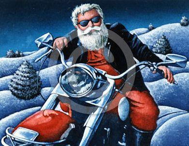 Дядо Коледа на Мотор!