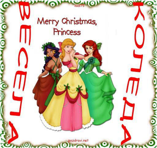 Щастлива Коледа Принцеси!