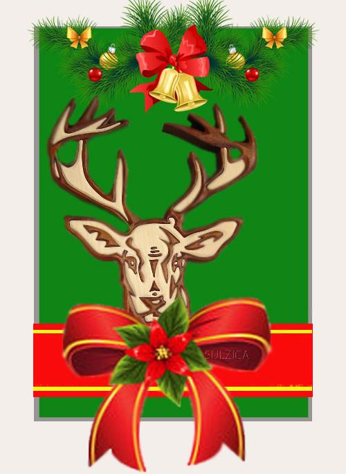 Коледен Елен украсен!