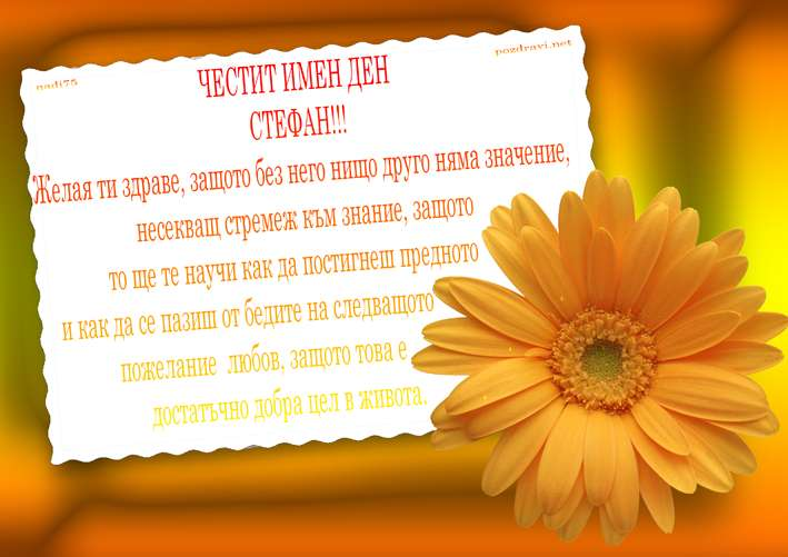 ЧЕСТИТ ИМЕН ДЕН СТЕФАН!!!